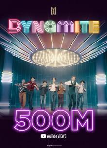 BTS「Dynamite」MV5億再生突破 通算10本目