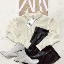 """周りと差をつけられる""""ニット""""はこれ一択かも。ZARAの「肩パッド入りセーター」がモード感抜群と話題です◎"""