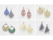 会津型紋様を使ったアクセサリー「AIGRA」誕生!「紙の耳飾り」新発売