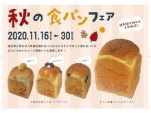 1/2サイズ「湯種食パン」&キューブ型ミニ食パンも登場!秋の食パンフェア