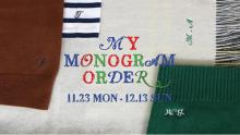 TOMORROWLANDでニットやストールにイニシャルを刺繍できる、ホリデーサービス「MY MONOGRAM ORDER」が開催中♡