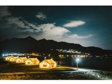 冬の海辺を満喫!グランピング&カフェ「ブルービーチ那智」好評につき営業延長