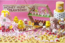 くまさん&ミツバチのモチーフにきゅん!7日間限定の「ハニーハント×いちご」ビュッフェが名古屋で開催