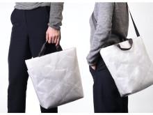 廃ビニール傘と再生ポリエステルを使用したキルティングバッグが新登場!