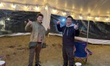 竹内涼真、加藤浩次と冬キャンプ満喫 ラストは2人で「15の夜」熱唱