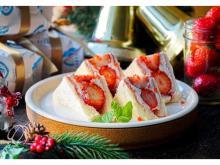 冬季限定!「レブレッソ」にいちごショートケーキ風のフルーツサンドが登場