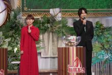 中川大志&葵わかな、有馬記念枠順抽選会に登場 大役終え「よく眠れそう」