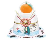 一年の無病息災を願う「サトウの福餅入り鏡餅小飾りアマビエさま」が発売中