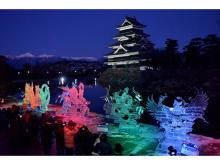 氷彫刻師が技術と芸術性を競い合う!「国宝松本城氷彫フェスティバル」開催