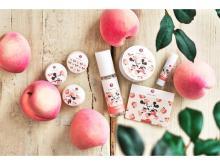 「まかないこすめ」からミッキー&ミニーデザインの桃の香りシリーズが登場