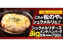 持ち帰りも可能!松のやの「シュクメルリチーズBigメンチハンバーグ定食」