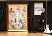天野喜孝氏、法華経画を制作&お披露目「描けるのか不安でした」