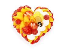 """""""恋みのり""""いちご&マンゴーを使用したカフェコムサのホワイトデーケーキ"""