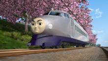「きかんしゃトーマス」桜並木と新キャラ・ケンジの特別映像