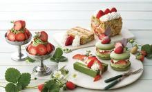 いちご×宇治抹茶の新作スイーツがずらり。キハチ カフェで春の香りに包まれる季節限定メニューがスタート