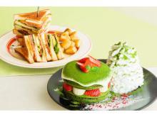 Eggs 'n Thingsに宇治抹茶を使ったパンケーキ&ボリューム満点サンドが登場