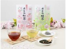 福寿園が「さくら緑茶 ティーバッグ」「さくら紅茶 ティーバッグ」を発売