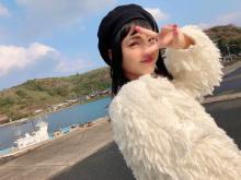 モデル・井手上漠、高校卒業記念でオフショット公開 故郷・島根で自然体な姿