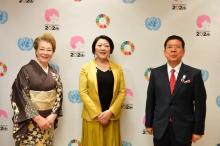 西川きよし&ヘレン夫妻、国連会議で家族について語る 慰問活動は「命の続く限り」