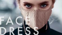 すべて刺繍でできた美しい見た目。刺繍メーカーが手掛ける「FACEDRESS」のマスクはフィット感もばっちり