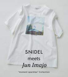 オーバーシルエットがかわいい。「スナイデル」×フォトグラファー Jun ImajoさんによるコラボTシャツが登場