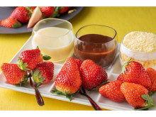 フレッシュいちごで春を満喫しよう!「3種のいちご食べ比べプレート」発売
