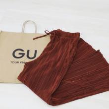 【GU】もう楽なパンツしか穿きたくない人はこれ。「春カラープリーツパンツ」がかわいくて穿き心地抜群でした