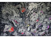 現代芸術家・笹田靖人の巨大ラッピングアートが地元の岡山桃太郎空港に設置