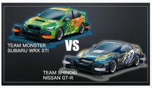 日産とSUBARU、トミカでレース対決 勝者は日産、負けたSUBARU担当者「会社に帰れない」