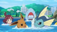 アニメ『ポケモン』イーブイ海泳ぐ、シャワーズに魅了 【第63話あらすじ】