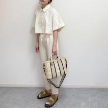 【ZARA】荷物は多いけどミニバッグが欲しい!「ウーブン トートバッグ」のサイズ×こなれ感にやられました