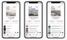 Apple Musicが都市別ランキング発表 日本は6都市 歌詞共有の新機能も