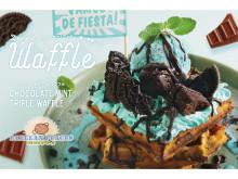 パエリアン・ピーシーズの特製デザートワッフルにチョコミント味が新登場!