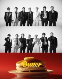 BTS「Butter」MVティーザー公開 強烈な白黒のグループショット