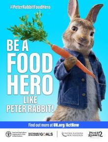 ピーターラビット、「フードヒーロー」を増やすグローバルキャンペーンに協力