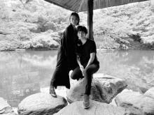 「#漂うダークサイド感」板垣李光人、安藤政信との2ショット公開「絵になるお二人」「美しいです」