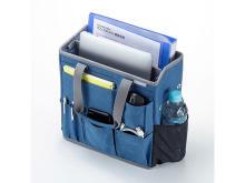 パソコンや書類を簡単に持ち運べて保管できる、テレワーク向けBOX型バッグが登場