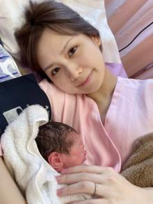元AKB48佐藤すみれ、第1子女児出産「本当に感動」 夫・K-1愛鷹亮も喜び「世界で1番強いパパに」