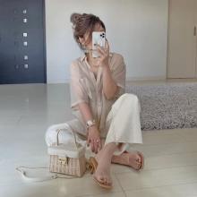 【GU】1690円ならイロチ買いもありかも!透け感がかわいい「シアーオーバーサイズシャツ」で旬スタイルに
