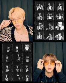 BTS フォトブース動画リレー第2弾 J-HOPEはウインク、JINはキス顔