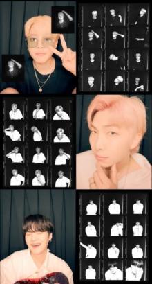 BTS「フォトブース映像」出そろう JIMIN、RM、SUGAの表情にファンメロメロ
