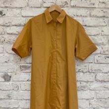 【GUレポ】今年は「シャツワンピース」もあえてオーバーサイズがかわいい。長めの袖で着痩せ効果も抜群です