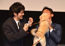 小泉進次郎環境大臣、保護犬から熱烈キス「会えてうれしい」
