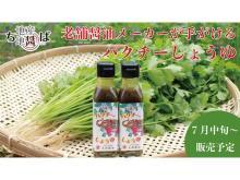 『ちば地産地醤プロジェクト』発足!第一弾商品「パクチーしょうゆ」が発売