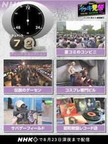 『ドキュメント72時間』夏コミ、コスプレ、サバゲーなど、人気回5本をイッキ見