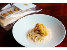 """""""ウニ祭り""""の名物「冷製ウニボナーラ」が家庭向けパスタソースとして一般発売!"""