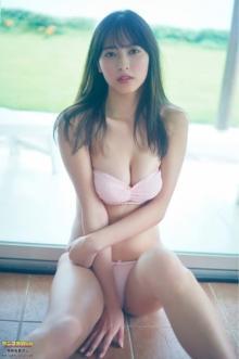 「ミスマガ審査員特別賞」大槻りこ、ハツラツ健康ボディ披露 ヤンマガWebで秘蔵カット公開