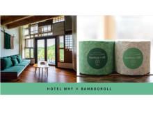 体験型宿泊施設「HOTEL WHY」が竹でつくったトイレットペーパー「BambooRoll」を導入