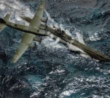 """「波の迫力がすごい」臨場感あふれる戦艦ジオラマに4.2万いいね、 戦艦大和に思いを馳せ表現した""""水の流れ""""へのこだわり"""
