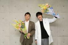 田中圭&安田顕『らせんの迷宮』を笑顔で撮了 コロナ撮影中断を経て「今回ばかりは本当に長かった」